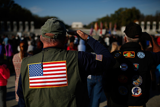 Wreath-Laying Ceremony Held At WWII Memorial In Washington DC On Veterans Day